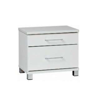 Arctic 2 drawer white dresser