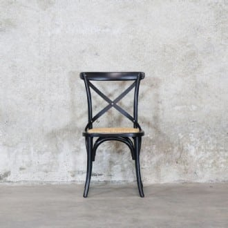 Awesome Bentwood Black Dining Chair Metal Crossback Rattan Seat Theyellowbook Wood Chair Design Ideas Theyellowbookinfo