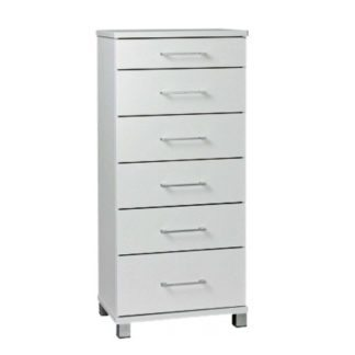 Arctic white furniture 6 draw slimboy 600